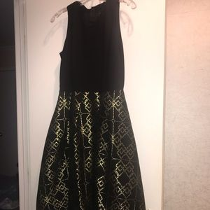 Ted Baker Metallic Brocade Midi Dress